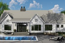 Dream House Plan - Farmhouse Exterior - Rear Elevation Plan #51-1135