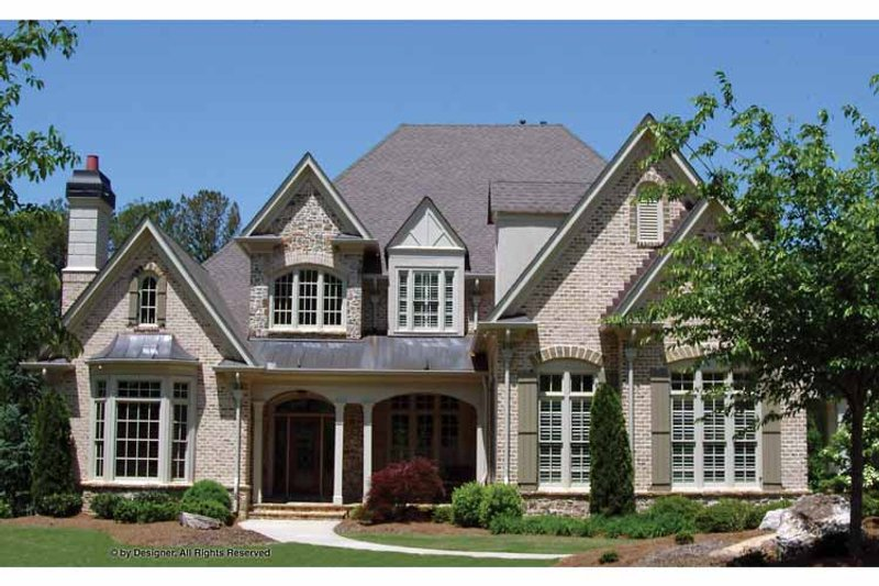 Traditional Exterior - Front Elevation Plan #54-347 - Houseplans.com