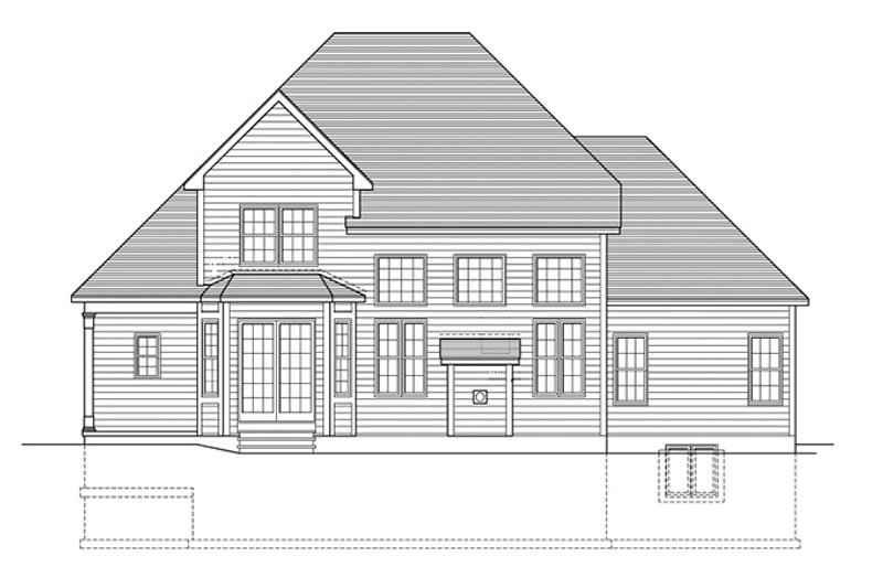 Colonial Exterior - Rear Elevation Plan #1010-105 - Houseplans.com