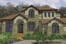 Mediterranean Exterior - Front Elevation Plan #120-216