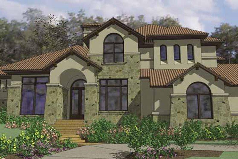 Architectural House Design - Mediterranean Exterior - Front Elevation Plan #120-216