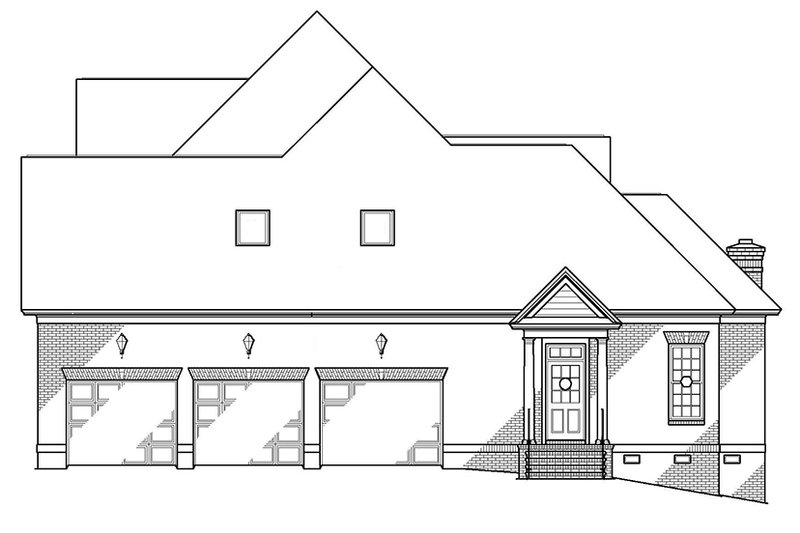Traditional Exterior - Other Elevation Plan #1054-8 - Houseplans.com