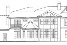 House Plan Design - Traditional Exterior - Rear Elevation Plan #54-303