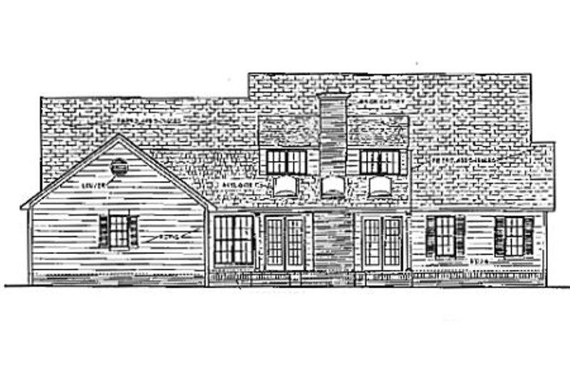 Southern Exterior - Rear Elevation Plan #406-175 - Houseplans.com
