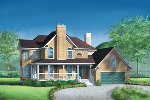 Country Exterior - Front Elevation Plan #25-2120