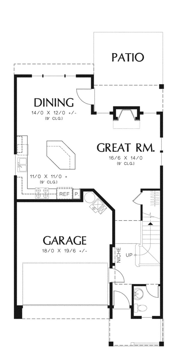 Craftsman Floor Plan - Main Floor Plan Plan #48-907