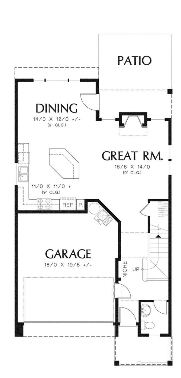 House Plan Design - Craftsman Floor Plan - Main Floor Plan #48-907