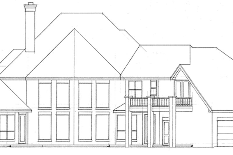 European Exterior - Rear Elevation Plan #52-247 - Houseplans.com