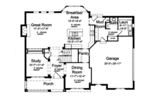 Craftsman Floor Plan - Main Floor Plan Plan #46-835
