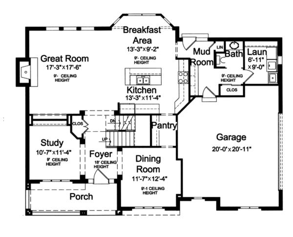 House Plan Design - Craftsman Floor Plan - Main Floor Plan #46-835