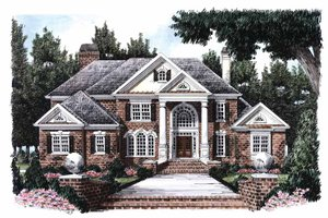 Home Plan - Classical Exterior - Front Elevation Plan #927-666