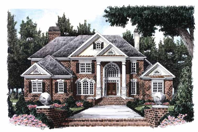 House Plan Design - Classical Exterior - Front Elevation Plan #927-666