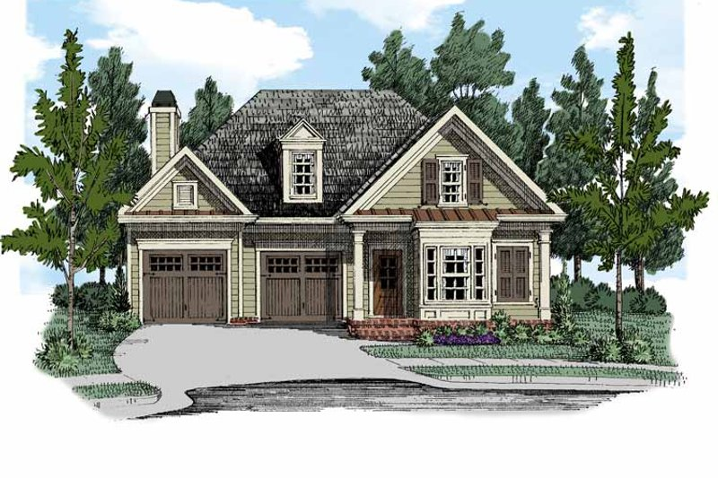 Bungalow Exterior - Front Elevation Plan #927-514