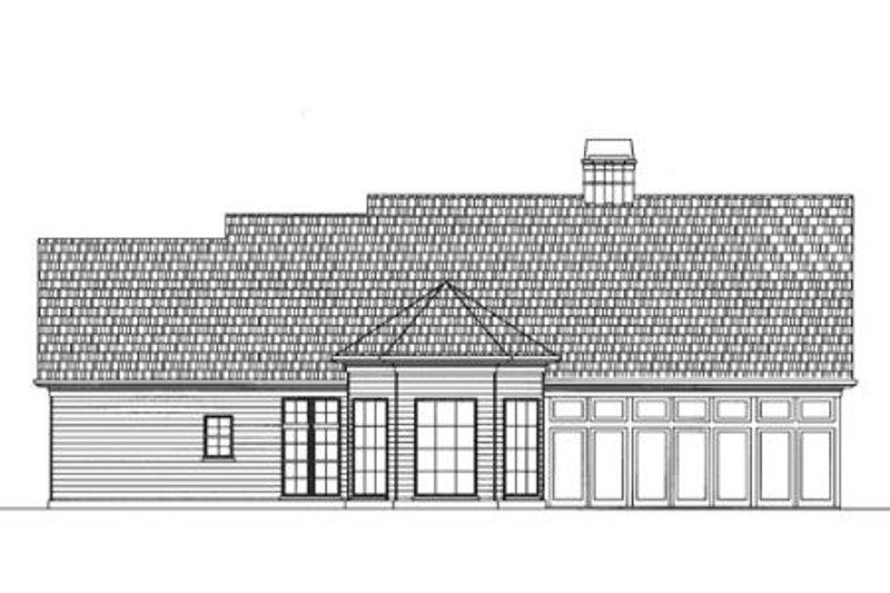 Traditional Exterior - Rear Elevation Plan #119-131 - Houseplans.com