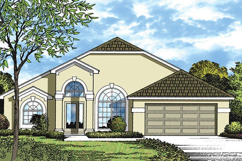 House Plan Design - Mediterranean Exterior - Front Elevation Plan #417-836