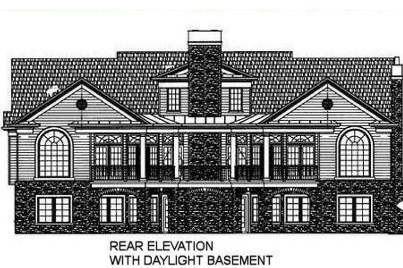 Classical Exterior - Other Elevation Plan #119-158 - Houseplans.com