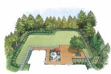 Exterior - Rear Elevation Plan #1040-42