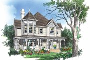Victorian Style House Plan - 3 Beds 2.5 Baths 2350 Sq/Ft Plan #929-306 Exterior - Front Elevation