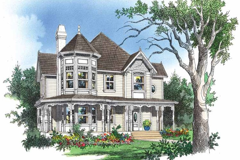 Victorian Exterior - Front Elevation Plan #929-306