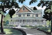 Country Style House Plan - 4 Beds 2.5 Baths 1982 Sq/Ft Plan #312-470 Exterior - Front Elevation