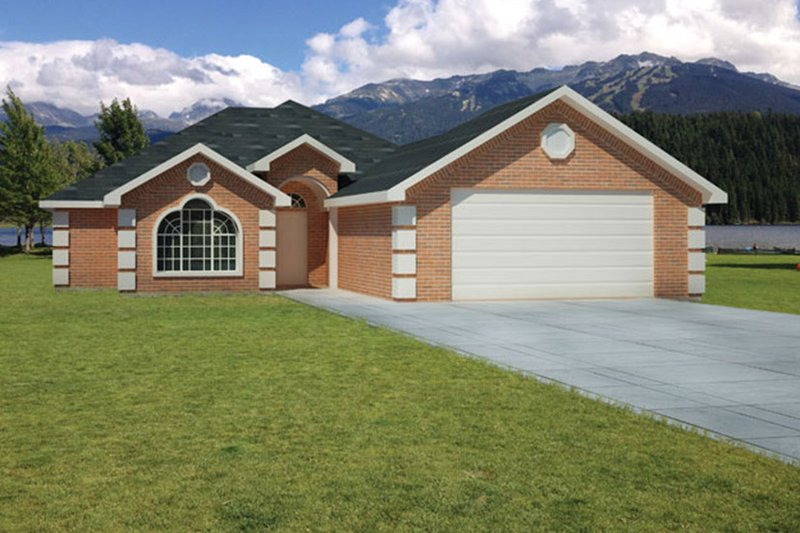 Dream House Plan - European Exterior - Front Elevation Plan #1061-15