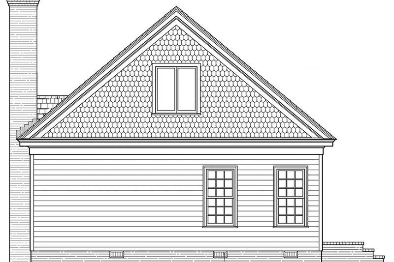Ranch Exterior - Rear Elevation Plan #137-369 - Houseplans.com