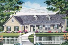Architectural House Design - Country Exterior - Front Elevation Plan #314-205