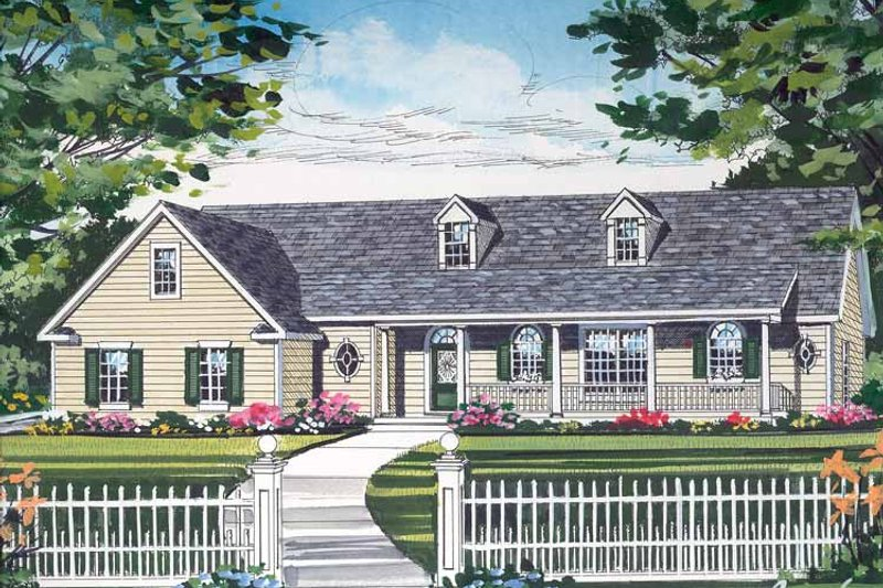Country Exterior - Front Elevation Plan #314-205