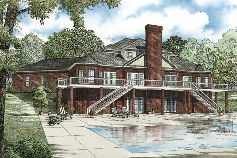 Classical Exterior - Rear Elevation Plan #17-2769 - Houseplans.com