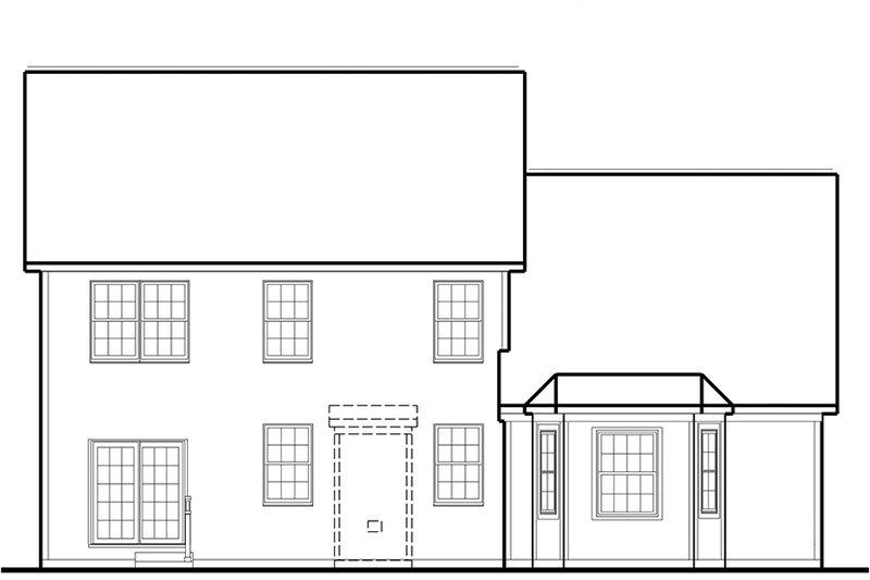 Country Exterior - Rear Elevation Plan #1053-70 - Houseplans.com