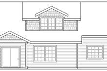 House Plan Design - Craftsman Exterior - Rear Elevation Plan #124-890