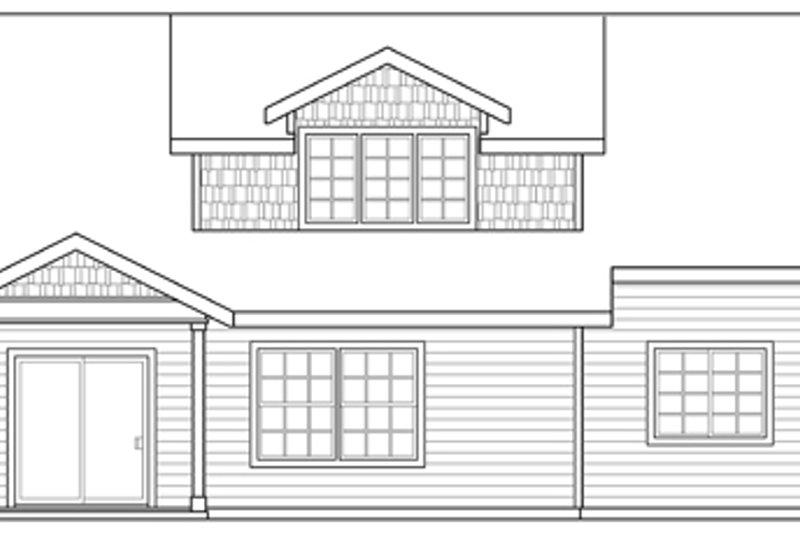 Craftsman Exterior - Rear Elevation Plan #124-890 - Houseplans.com