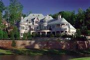 European Style House Plan - 5 Beds 6.5 Baths 8930 Sq/Ft Plan #453-50 Exterior - Rear Elevation