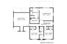 Tudor Floor Plan - Upper Floor Plan Plan #413-877