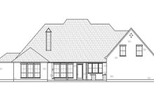House Blueprint - Country Exterior - Rear Elevation Plan #1074-46