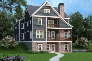 House Design - Craftsman Exterior - Front Elevation Plan #419-237