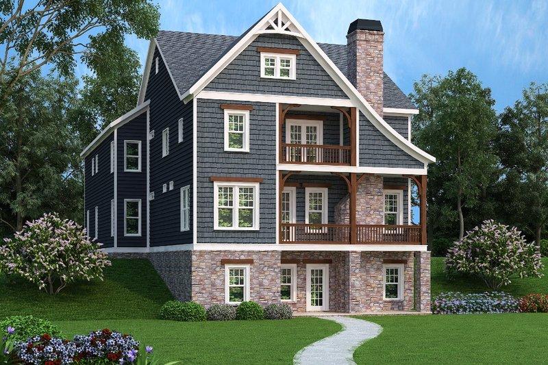 Dream House Plan - Craftsman Exterior - Front Elevation Plan #419-237