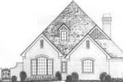 Tudor Style House Plan - 2 Beds 2.5 Baths 2478 Sq/Ft Plan #310-490 Exterior - Front Elevation