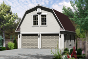 Farmhouse Style House Plan - 0 Beds 1 Baths 468 Sq/Ft Plan #25-4752 Exterior - Front Elevation