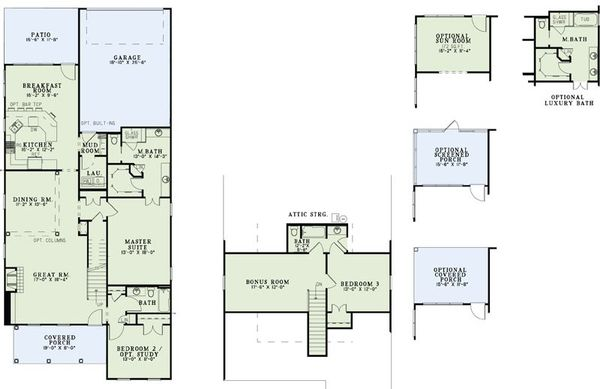 Farmhouse Floor Plan - Main Floor Plan Plan #17-2425