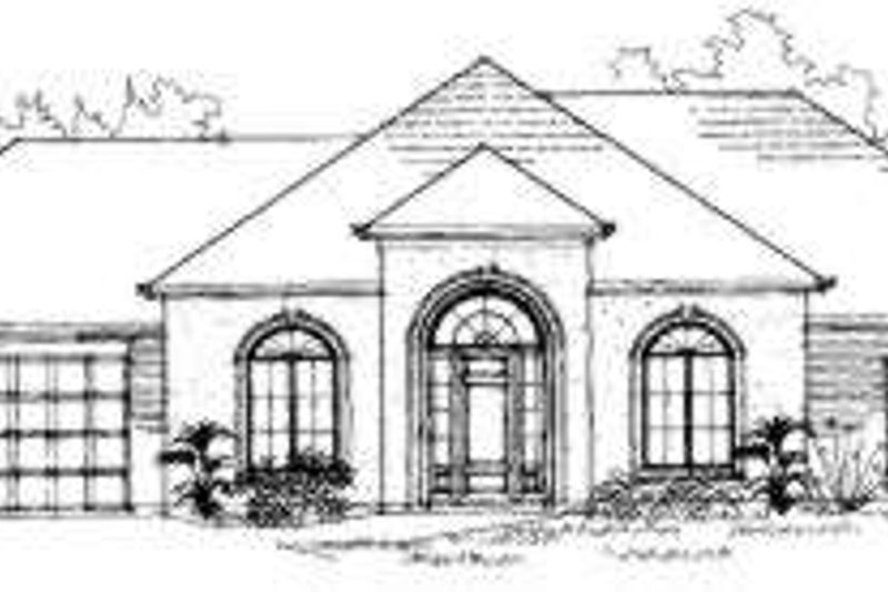 European Style House Plan - 3 Beds 3 Baths 2584 Sq/Ft Plan #325-213 Exterior - Front Elevation