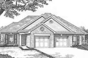 European Style House Plan - 2 Beds 2 Baths 2434 Sq/Ft Plan #310-441 Exterior - Front Elevation