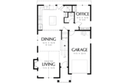 Cottage Style House Plan - 3 Beds 2.5 Baths 1454 Sq/Ft Plan #48-488 Floor Plan - Main Floor Plan