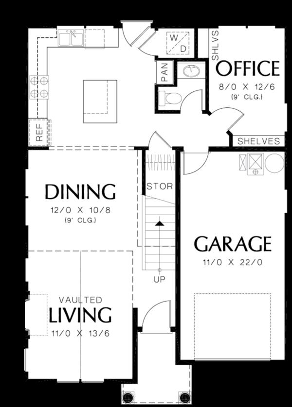 Cottage Floor Plan - Main Floor Plan #48-488