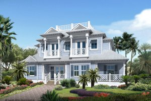 Mediterranean Exterior - Front Elevation Plan #548-7