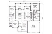 Ranch Style House Plan - 3 Beds 2 Baths 1934 Sq/Ft Plan #419-148 Floor Plan - Main Floor Plan