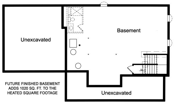 Traditional Floor Plan - Lower Floor Plan Plan #46-899