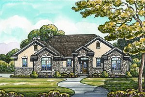Traditional Exterior - Front Elevation Plan #20-2097