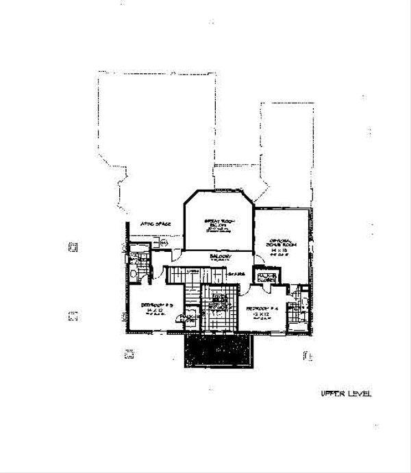 Colonial Floor Plan - Upper Floor Plan Plan #310-703