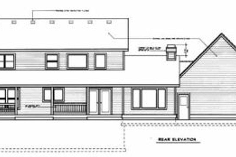 Country Exterior - Rear Elevation Plan #94-204 - Houseplans.com